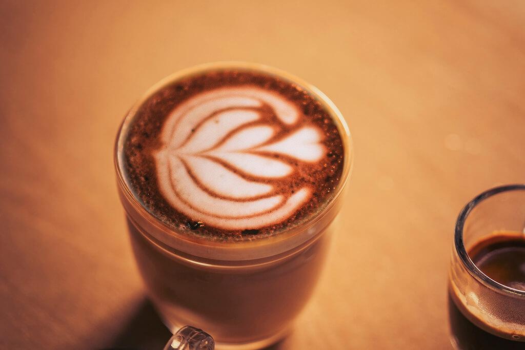 Coffee Island's cappuccino.
