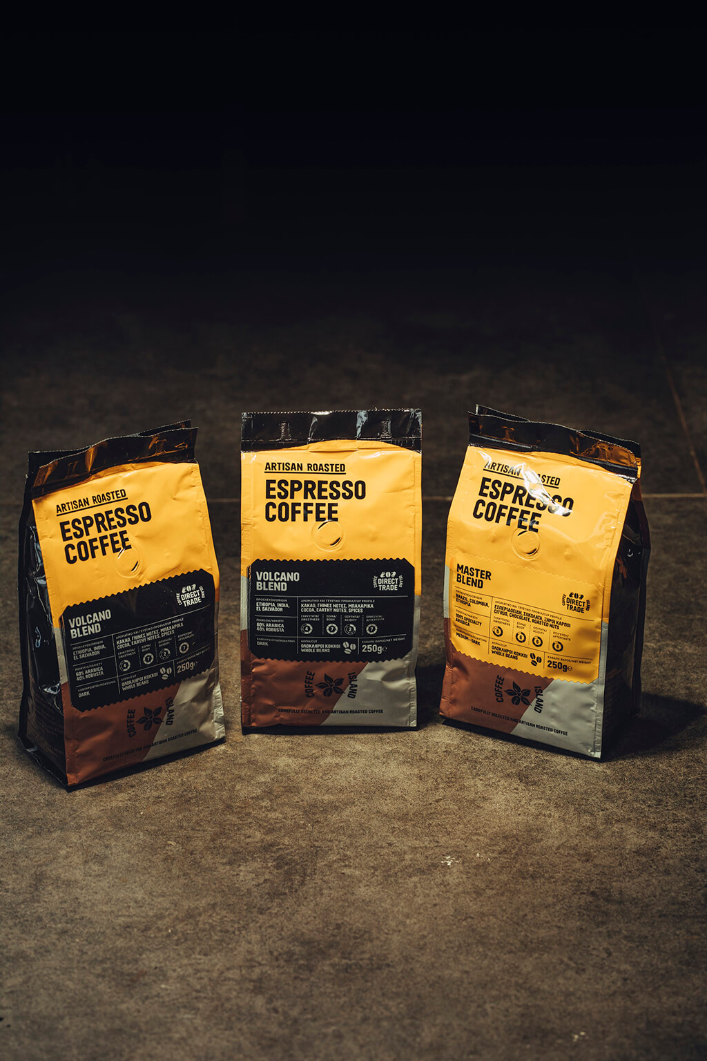 Coffee Island's espresso coffee package