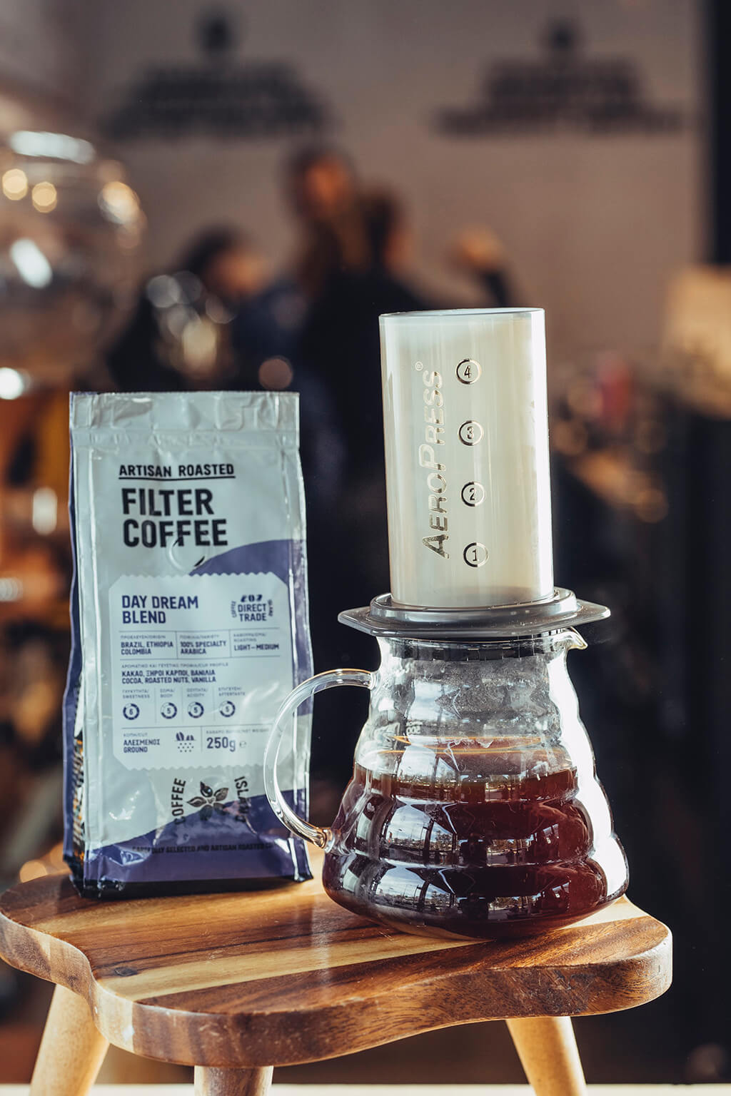Coffee Island's filter coffee package and aero press