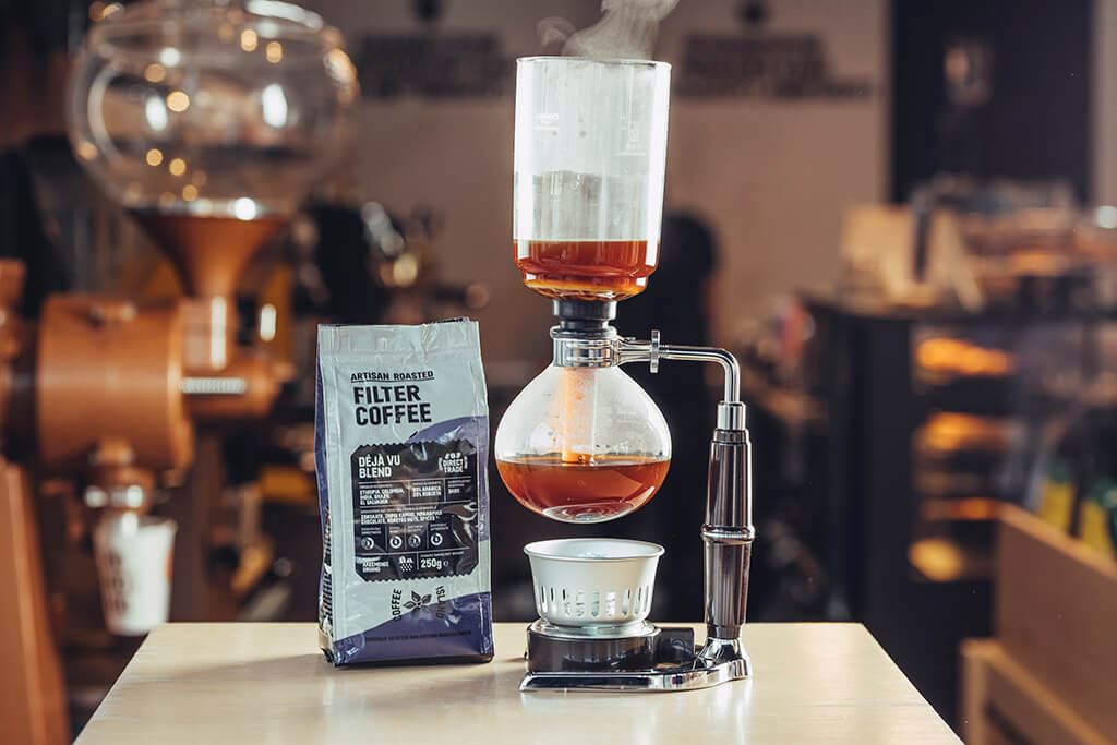 Coffee Island's filter coffee package and filter coffee machine